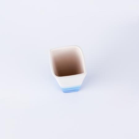 Vază ceramică pictată manual, ilustrație apa mării [3]