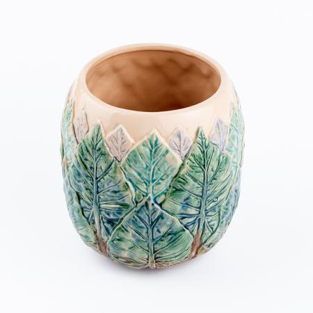 Vază pentru flori realizată manual din ceramică [4]