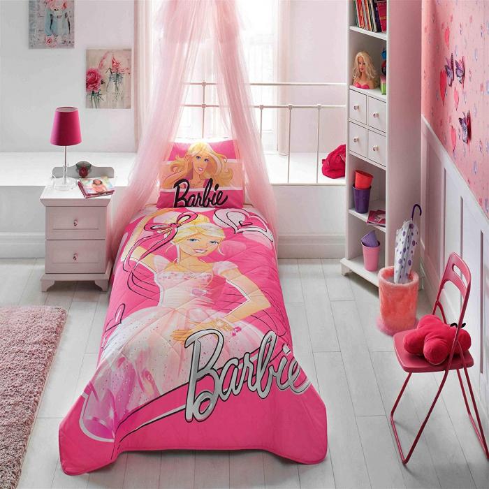Cuvertură matlasată 160x220cm, TAC, Barbie Balerina [0]