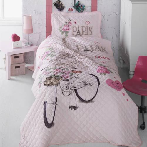 Cuvertură pat Clasy-matlasată PARIS LOVE [0]