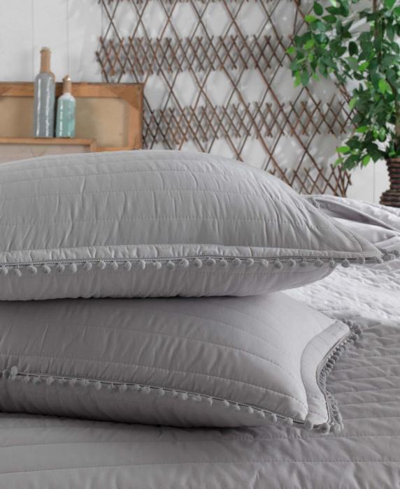 Cuvertură pat Clasy-matlasată PEDRA V2 gri [1]