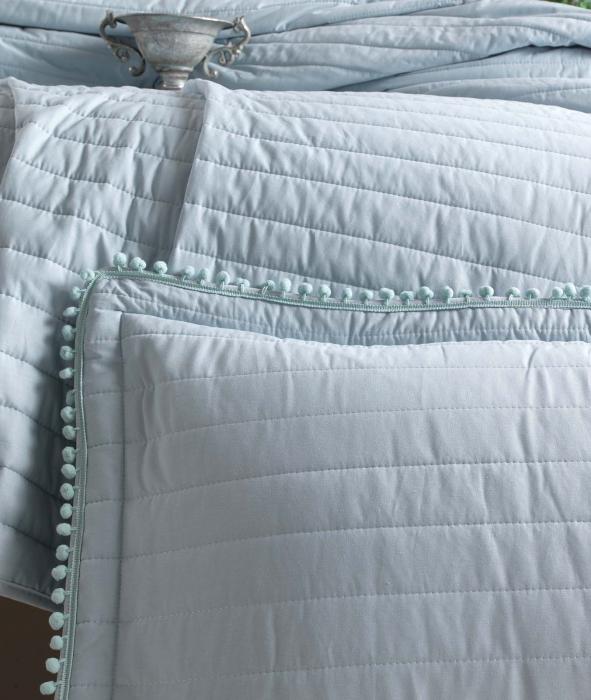 Cuvertură pat Clasy-matlasată PEDRA V4 turcoaz [1]