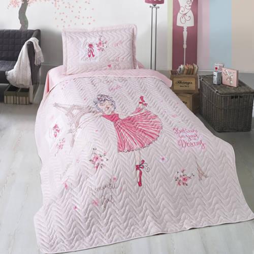 Cuvertură pat Clasy-matlasată ROMANTIC GIRL [0]