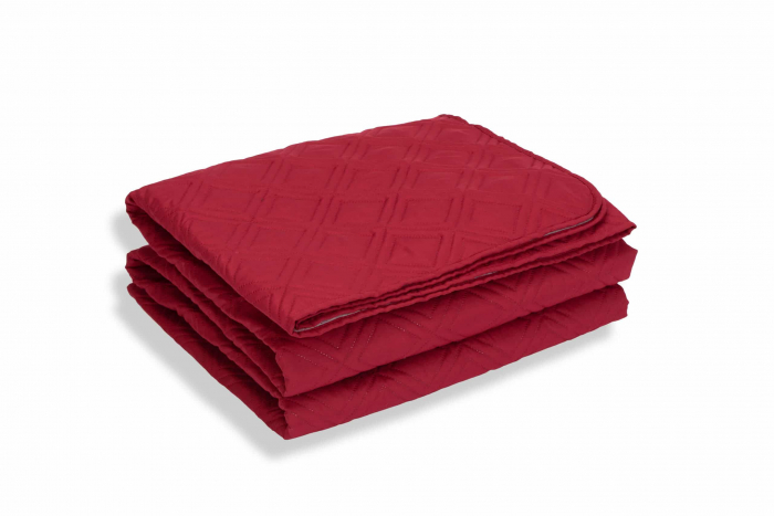 Cuvertura de pat, Bordeaux, microfibra soft-touch, 220X240 cm [0]