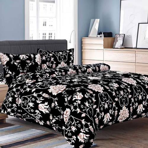 Lenjerie de pat cocolino Floral Black [0]