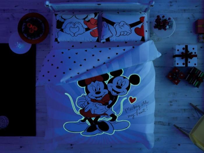 Lenjerie de pat, două persoane, bumbac 100%, TAC, Minnie Mickey Love Day [1]