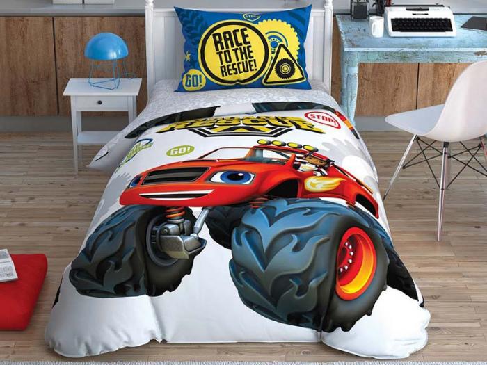Lenjerie de pat, o persoana, bumbac 100%, TAC, Blaze Road Rescue [0]