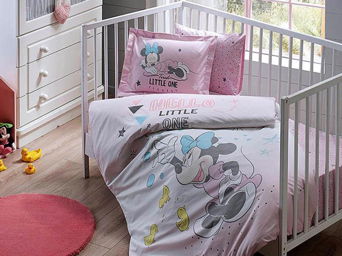 Lenjerie pătuț bebe, bumbac 100%, Tac Disney, Minnie Bubble Baby [0]