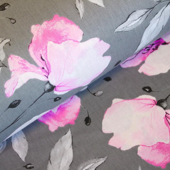 Ranforce gri cu magnolii roz [0]