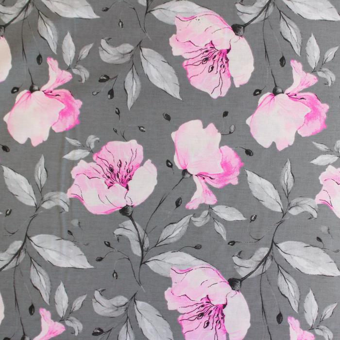 Ranforce gri cu magnolii roz [1]