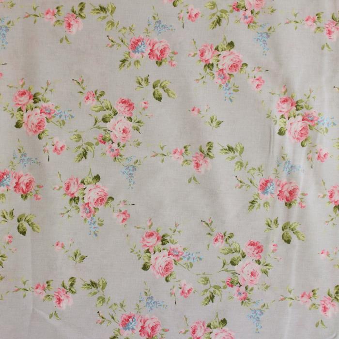 Ranforce gri cu floricele roz [2]