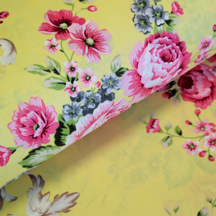 Ranforce galben cu flori [0]