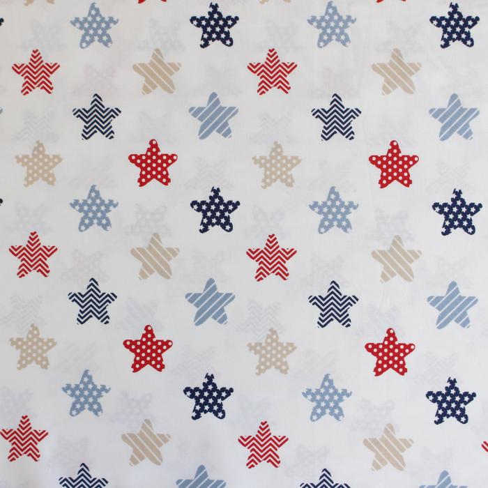 Ranforce alb cu stele bleumarin si rosii [1]