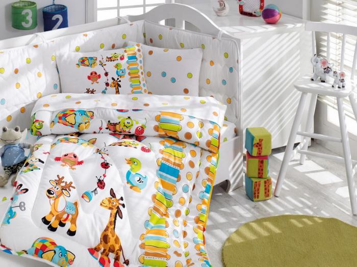 Set pentru pătuț bebe, bumbac 100%, Cotton Box, Animals [0]