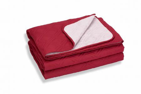 Cuvertura de pat, Bordeaux, microfibra soft-touch, 220X240 cm [1]