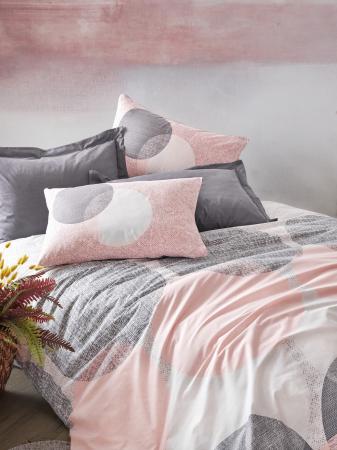 Lenjerie de pat ranforce, două persoane, bumbac 100%, Cotton Box, Leron - Grey [1]