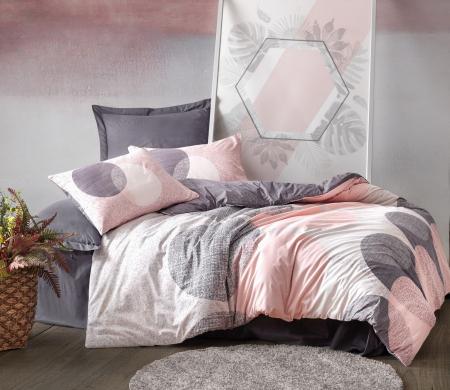 Lenjerie de pat ranforce, două persoane, bumbac 100%, Cotton Box, Leron - Grey [0]