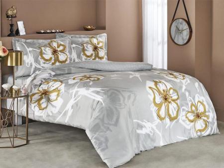 Lenjerie de pat satin, două persoane,bumbac 100%, TAC, Romy gri [0]