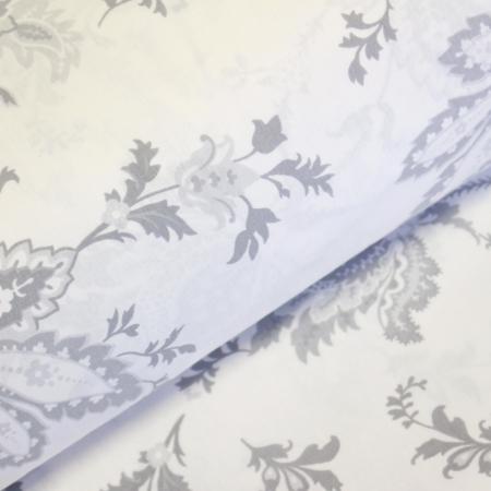 Ranforce alb cu flori gri [0]