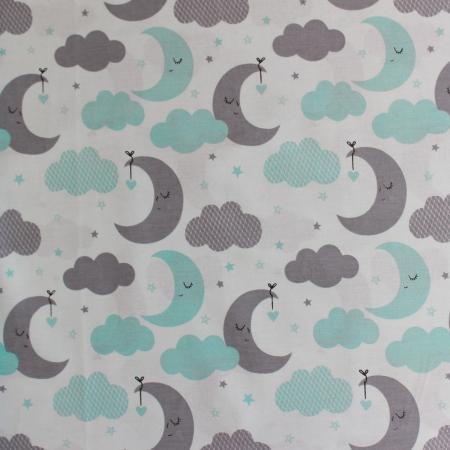 Ranforce turcoaz cu lună și nori [1]