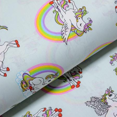 Ranforce turcoaz cu unicorni si curcubeu [0]