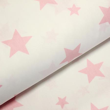 Ranforce alb cu stele roz [0]