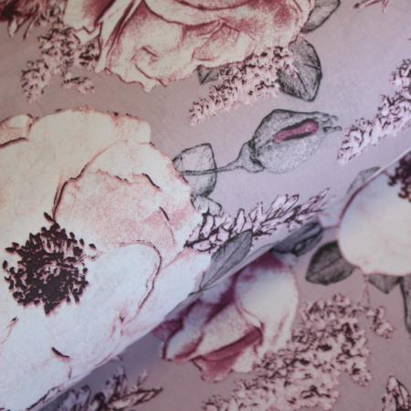 Ranforce roz pudra cu flori [0]