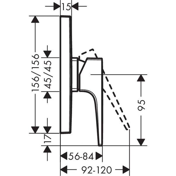 Baterie duș încastrată Metropol Hansgrohe [1]