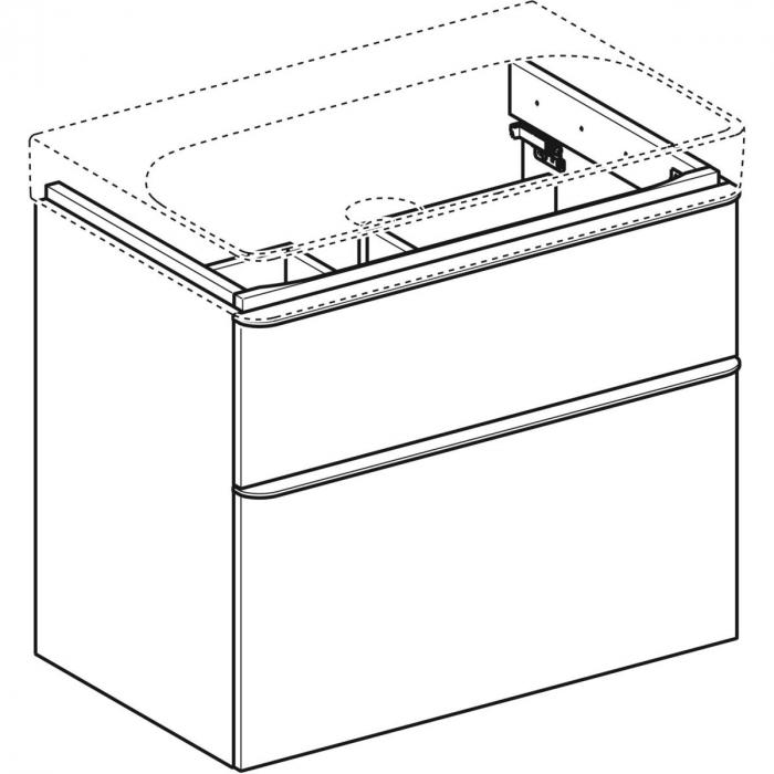 Set mobilier pentru baie suspendat și lavoar Smyle Square 75  Geberit [5]