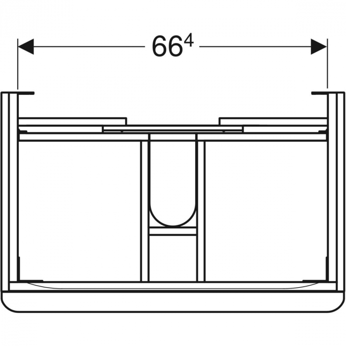 Set mobilier pentru baie suspendat și lavoar Smyle Square 75  Geberit [8]