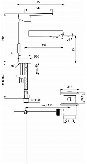 Baterie bideu Ceraflex Ideal Standard [1]