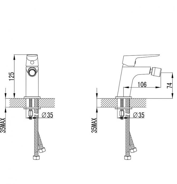 Baterie bideu Ravak CL 055.00 [1]