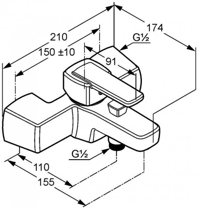Baterie cada-dus KLUDI Q-beo DN 15 [1]