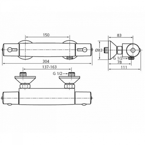 Baterie dus Ceratherm 50 Ideal Standard [1]