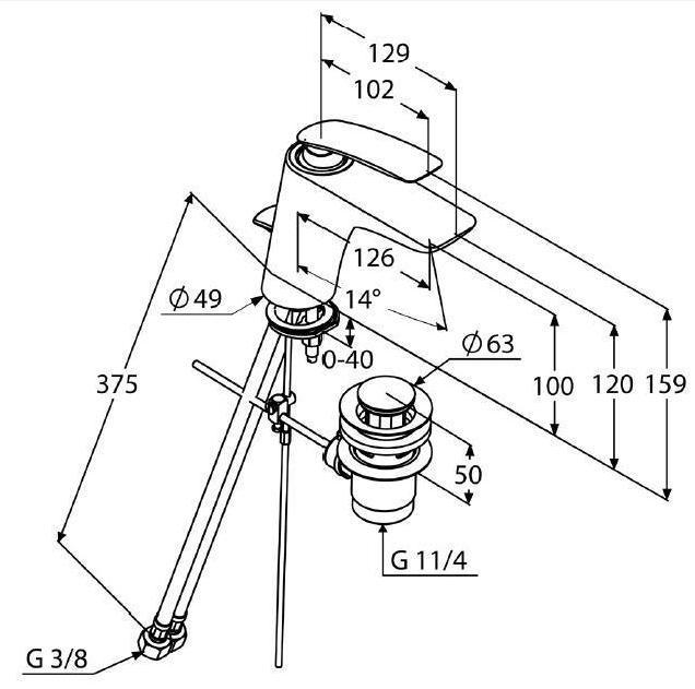 Baterie lavoar DN 10 KLUDI Balance crom-alb [1]