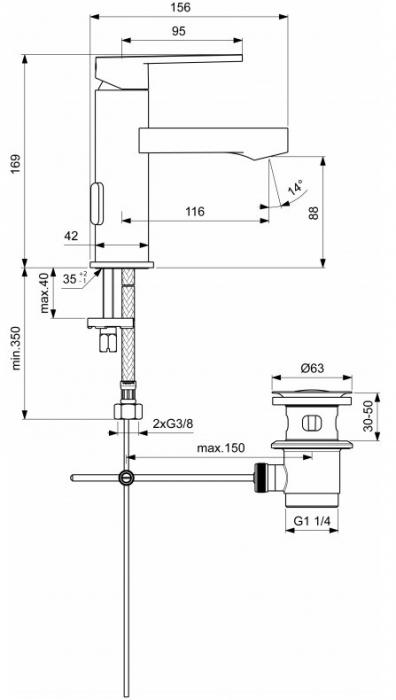 Baterie lavoar Gio Ideal Standard 1