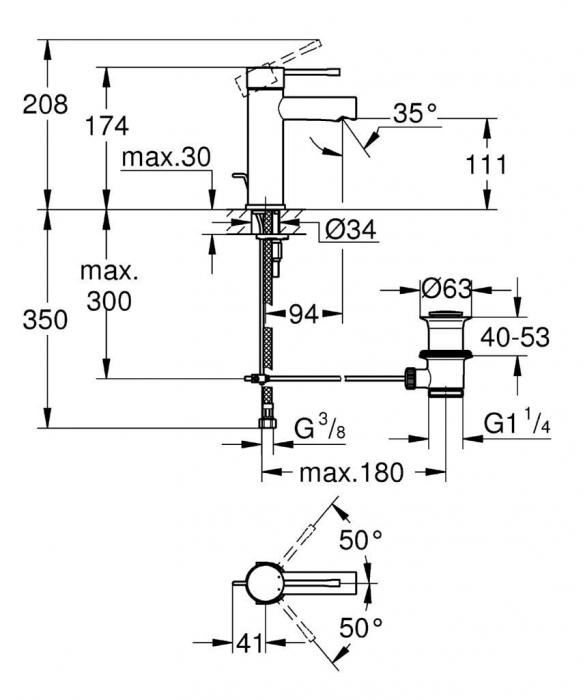 "Baterie lavoar monocomand─â 1/2"" 32898001 Grohe Essence 1"
