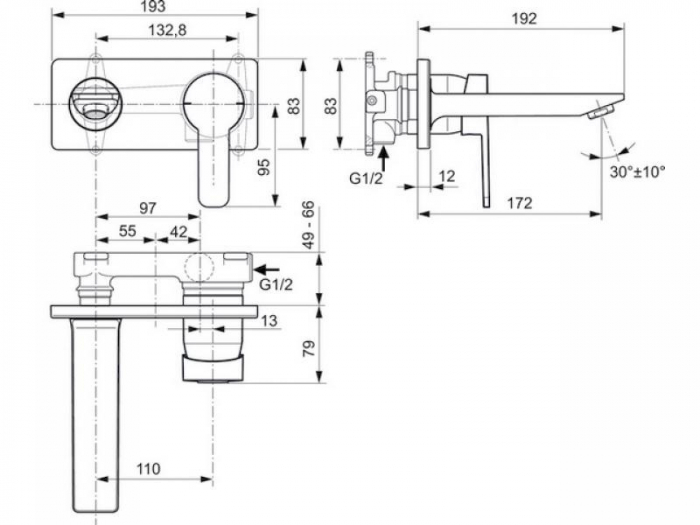 Baterie lavoar perete Gio Ideal Standard [1]