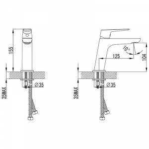 Baterie lavoar stativa Ravak CL 012.00 [1]