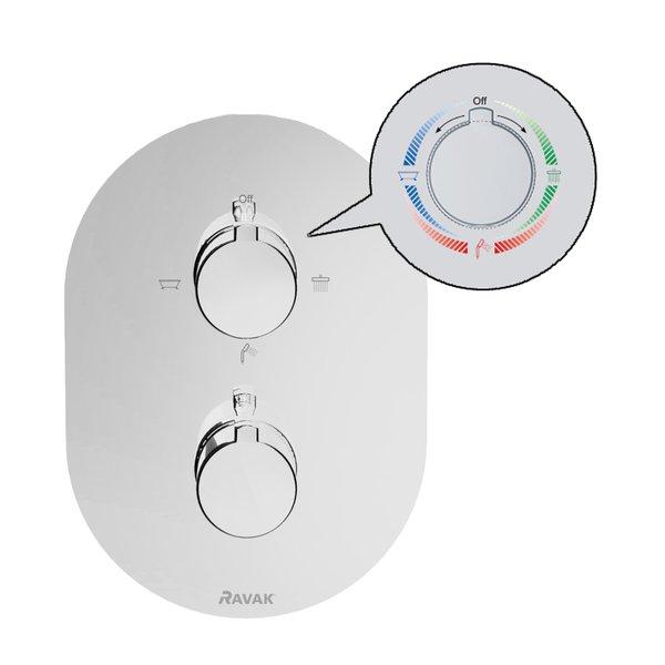 Baterie termostatata incastrabila cu trei cai Ravak 1