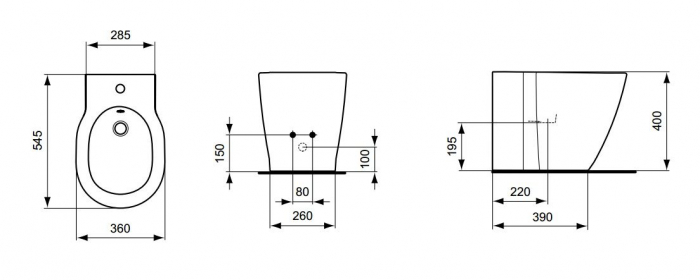 Bideu stativ Connect Ideal Standard E799501 36x54 cm 2