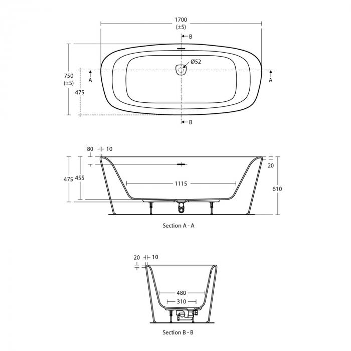 Cada Dea 170 cm freestanding [1]