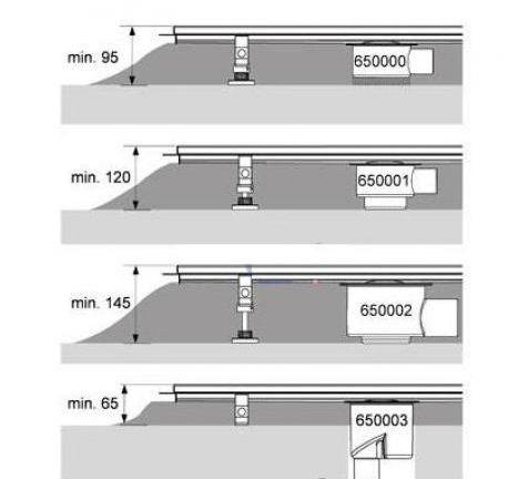 Canal5 de dus TECE drainline pentru piatra naturala, dreapta, cu membrana de etansare Seal System, inclusiv placa suport pentru partea centrala detasabila L = 120cm 3