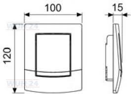 Clapeta de actionare intr-o singura treapta, pentru sisteme de spalare tip urinal crom lucios ambia TECE 1