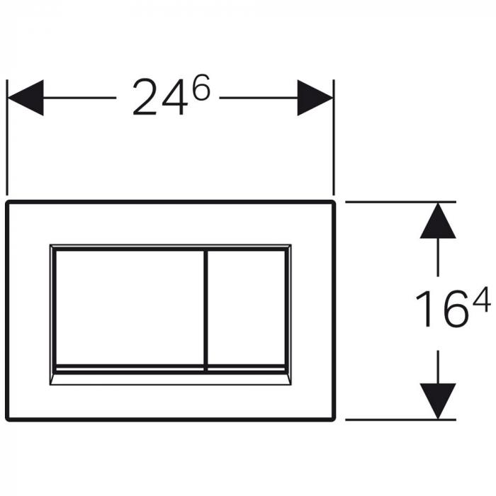 Clapeta de actionare Sigma 30 Geberit Sigma30crom1 1
