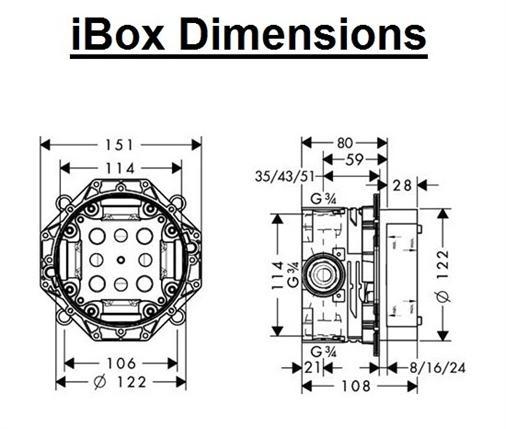 Corp Ibox Universal HANSGROHE   1