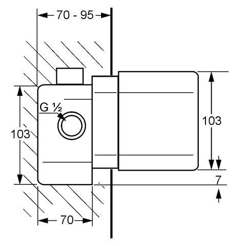 Set Termostat Corp incastrat KLUDI DN 15 t 35156 1