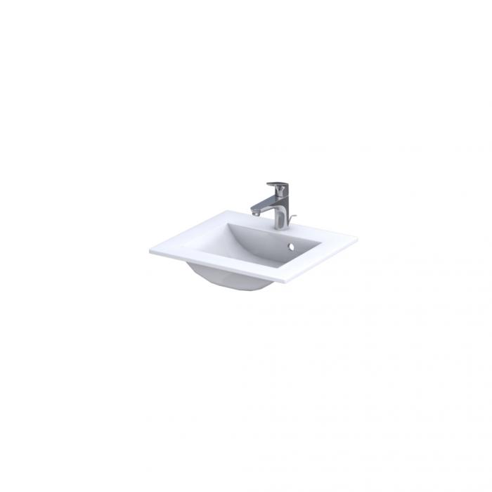 Set mobiler baie suspendat si lavoar Silver Oristo 60 alb [6]