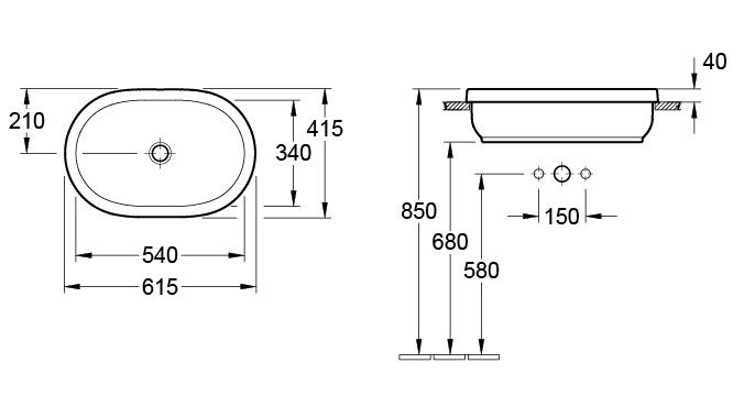 Lavoar Architectura VILLEROY&BOCH 41666001 1