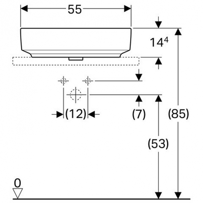 Lavoar dreptunghiular 55 cm Variform Geberit [1]